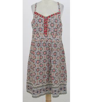 Tu - Size: 16 - Beige mosaic patterned cotton dress