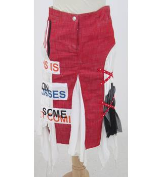 PianuraStudio, size M, red denim skirt