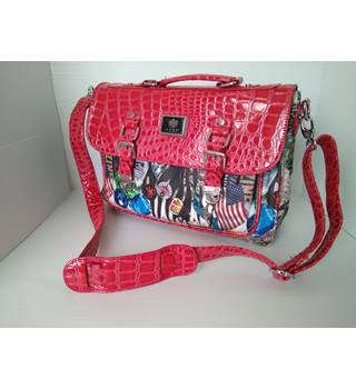 LYDC LONDON red mix satchel bag