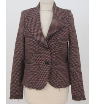 Belair - Size: M - Brown and pink check tweed Jacket