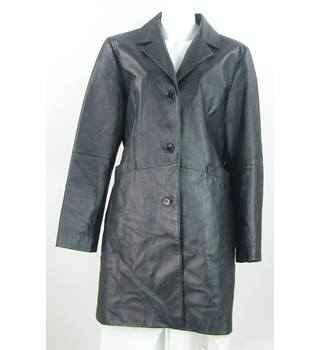 For Women - Size: 16 - Black - Leather Coat