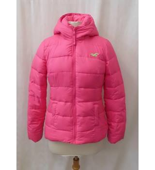 Hollister Size: S Hot Pink Hooded Casual coat