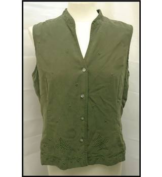 Anne Brooks - Size: 14 - Green - Sleeveless top