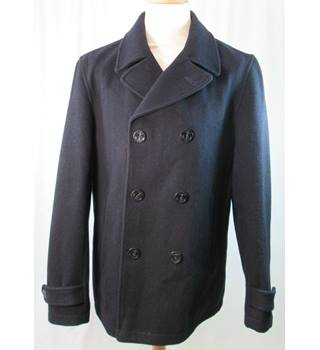 Next Tailoring - Size Large - Black/blue double-breasted coat