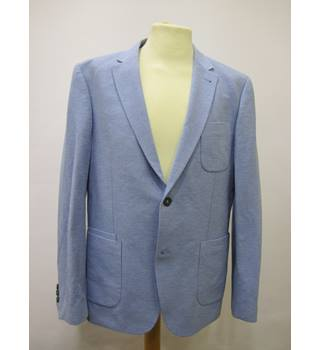 "Peter Werth Size Chest 34""  Light Blue Pattern Eton Blazer"