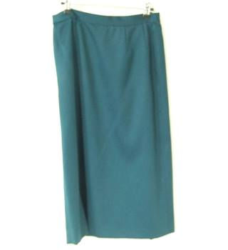 Vintage Jaeger - Size: 14 - Green - Indie Style Lovely Wool Thick Green Skirt