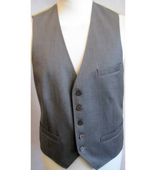 TED BAKER LONDON - Size: 38R - Grey -Fully Lined- Wool-Debonair Waistcoat