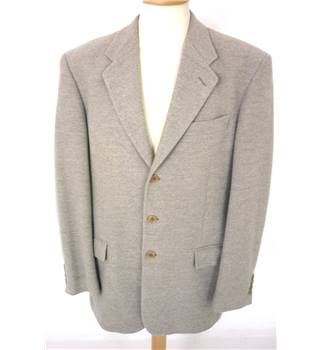 "M&S St Michael Size: 42"" Chest Beige Woven Patterned Stylish Jacket."