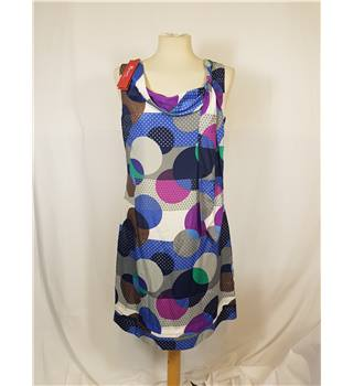 BNWT  Monsoon - Size: 12 - blue, purple & grey mix large spotted dress