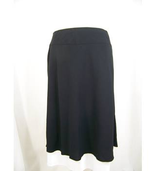 M & S Collection - Size: 14 - Black - A-line skirt