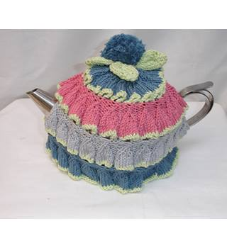 Retro Design Hand Knitted Tea Cosy