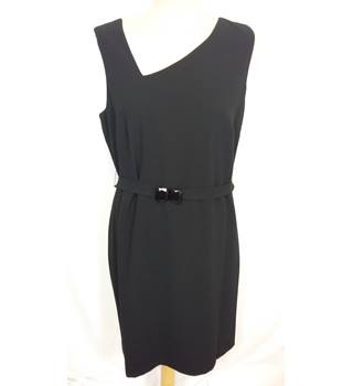 NWOT M&S Autograph - Size 16 - Black with dipped neckline and waist band evening dress