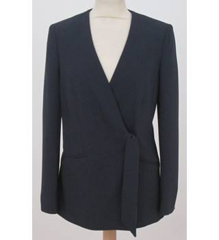 NWOT M&S Collection, size 8 navy sash tie jacket