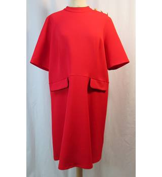 M&S Marks & Spencer Collection - Size: 20 - Red - Knee length dress