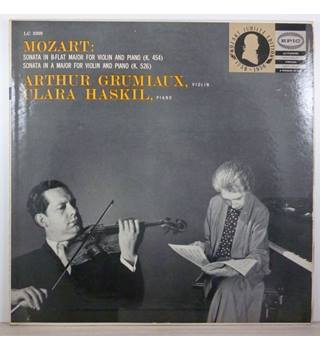 Mozart - Sonates For Violin And Piano K. 454, K. 526 - Arthur Grumiaux, Clara Haskil - LC 3299