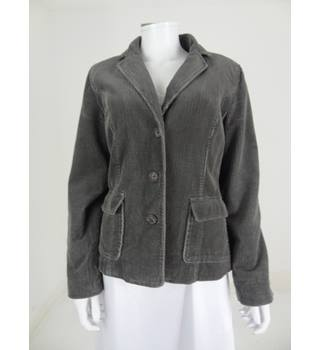 Laura Ashley Size 14 Grey Cord Casual Jacket