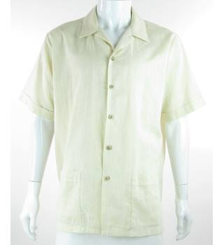 VINTAGE- Legend by Luvisca - Size: XL - Beige Cotton mix - Short Sleeved Shirt