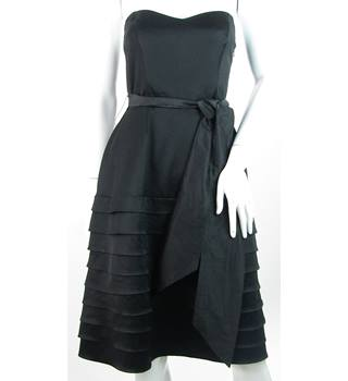 Coast - Size: 10 - Black - Evening Dress With Horizontal Pleat Detail