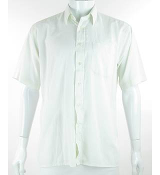 VINTAGE - St Michael - Size: L - Cream / ivory - Short Sleeved Shirt