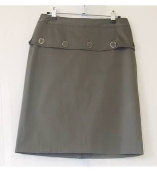 Reiss Size 8 Khaki Green Skirt