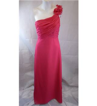 Mori Lee size 10 pink applique prom dress