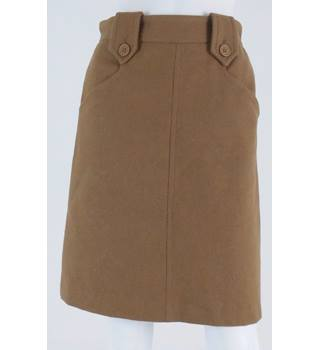 Great Plains Size 8 Caramel 100% Wool A-Line Skirt