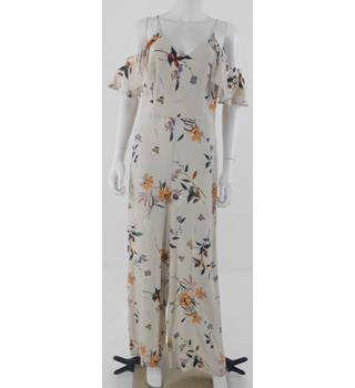 NWOT M&S Size 10 Cream with Floral Pattern Jumpsuit