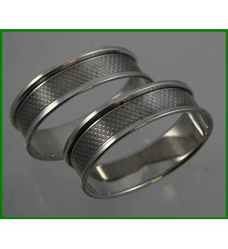 Vintage 1960 -Sterling silver hallmarked - napkin rings
