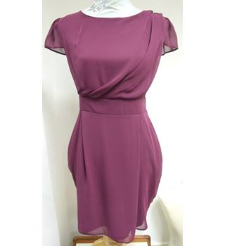 River Island Size 12 Rich Purple Pleated Dress