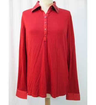 Jaeger - Size: L - Red - Long sleeved shirt