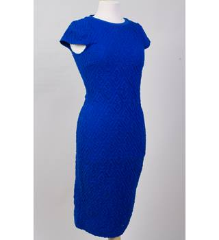 River Island embossed pattern electric blue midi dress 12 River Island - Blue - Calf length skirt