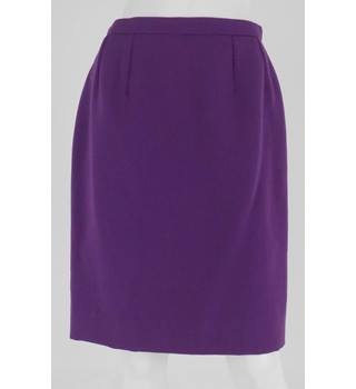 Hobbs Size 10 Purple Straight Wool Skirt