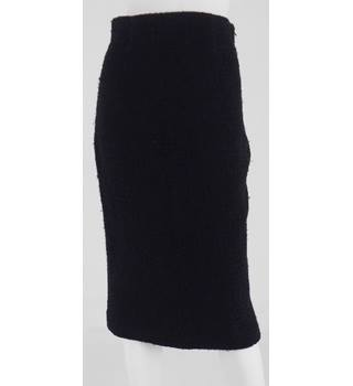 Hobbs - Size: 8 Black Boucle effect Pencil Skirt