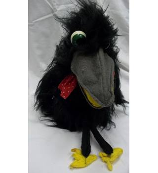 Vintage Black Crow Hand Puppet