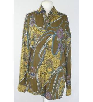 1980 s Pseudo approx size 16 psychedelic oversize shirt blouse - long sleeves