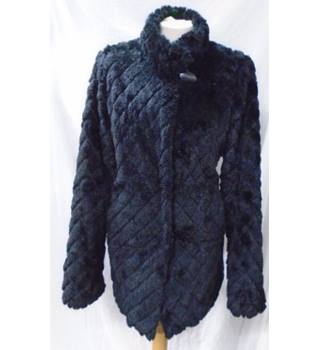 Dennis Basso - Size: M - Black Faux Fur coat