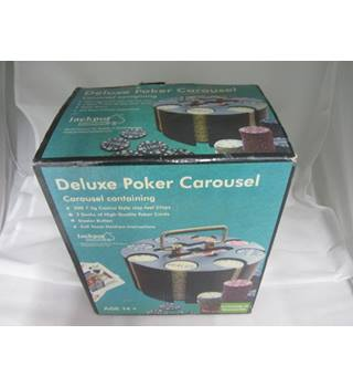 Vintage Deluxe poker Carousel caddy in original box