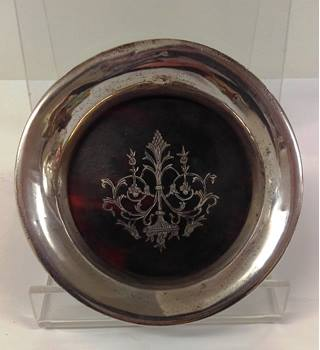 Silver and Tortoise Shell Plate Victorian