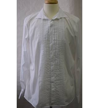 BNWT Autograph Men's White dress shirt Slim Fit  17.5 M&S Marks & Spencer - Size: M - White - Long sleeved