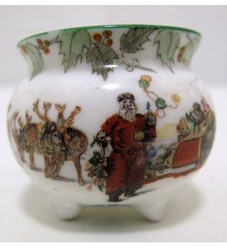Antique Royal Doulton Miniature Christmas Series Pot