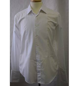 Marks and Spencer Evening wear white shirt size 15.5 M&S Marks & Spencer - Size: M - White - Long sleeved