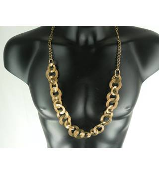 Stunning Gold Tone Statement Necklace