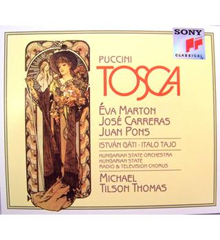 Tosca - Puccini (idealistic lovers amidst a dark chapter for Rome, set in 1800 2 x CDs)
