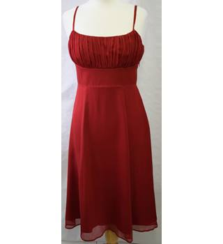 Autograph Red Silk Party Dress size 12 M&S Marks & Spencer - Size: 12 - Red
