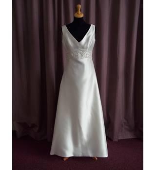 Rosetta Nicolini Ivory Sleeveless Wedding Dress Size 12 BNWOT