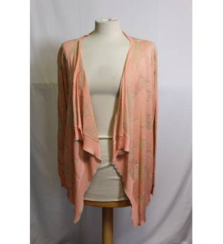 ADC Panacher Salmon and Gold Star Cardigan BNWT ADC Panacher - Size: One size: regular - Pink - Cardigan