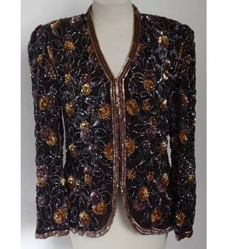 Frank Usher sequined jacket - Size: S - Multi-coloured