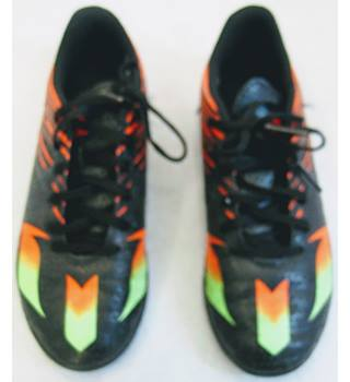 Adidas black/orange astro turf football shoes size UK 4 Adidas - Size: 4 - Multi-coloured - Football boots
