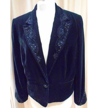 Minosa - Size: 14 - Black - Smart velvet jacket