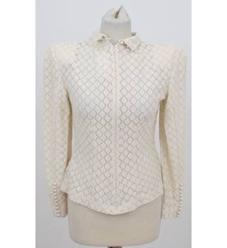 F&F Couture - Size: 10 - Beige pattern top